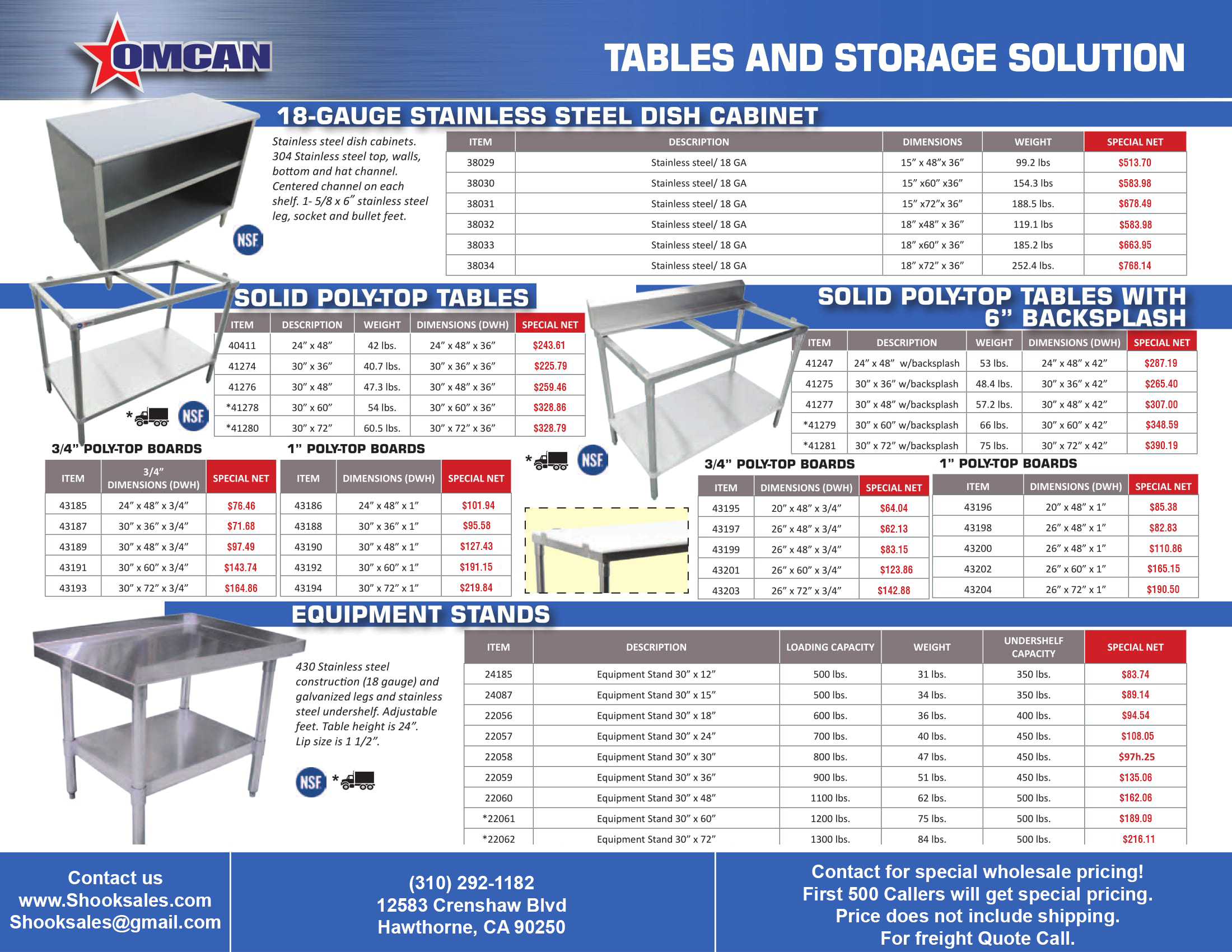 Promo flyers shookrestaurantequipment steam table pans 1 sinks and tables 1 sinks and tables 2 work tables with cabinets tables and storage units greentooth Image collections